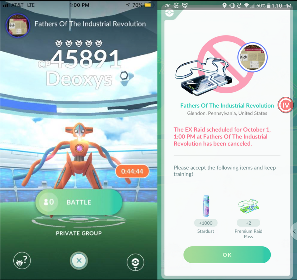 Pokémon GO EX Raid doch nicht abgesagt