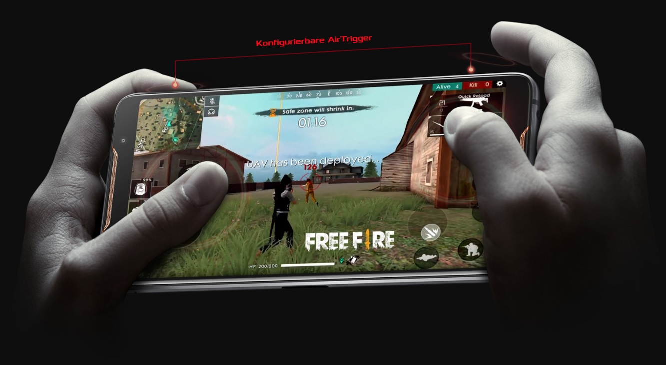 Asus ROG PHone Air trigger