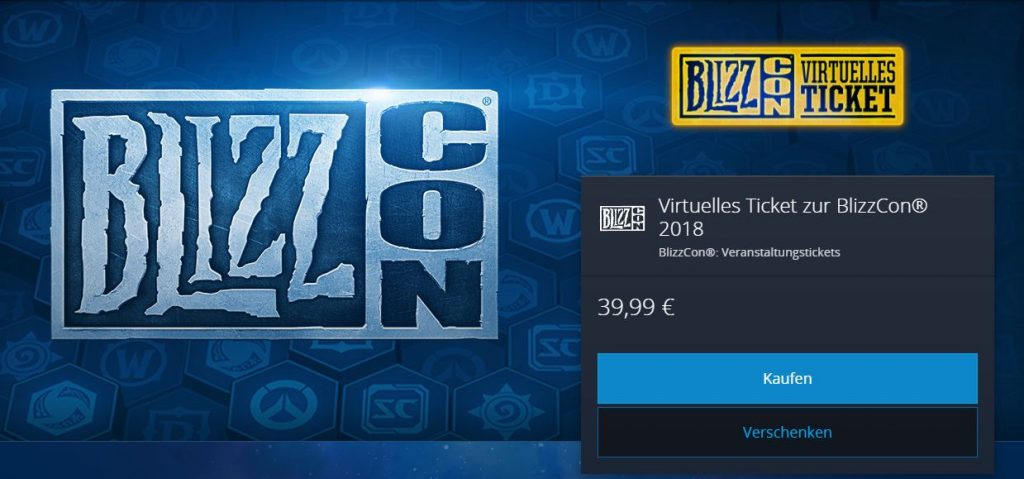 Battle net shop blizzcon 2018 ticket
