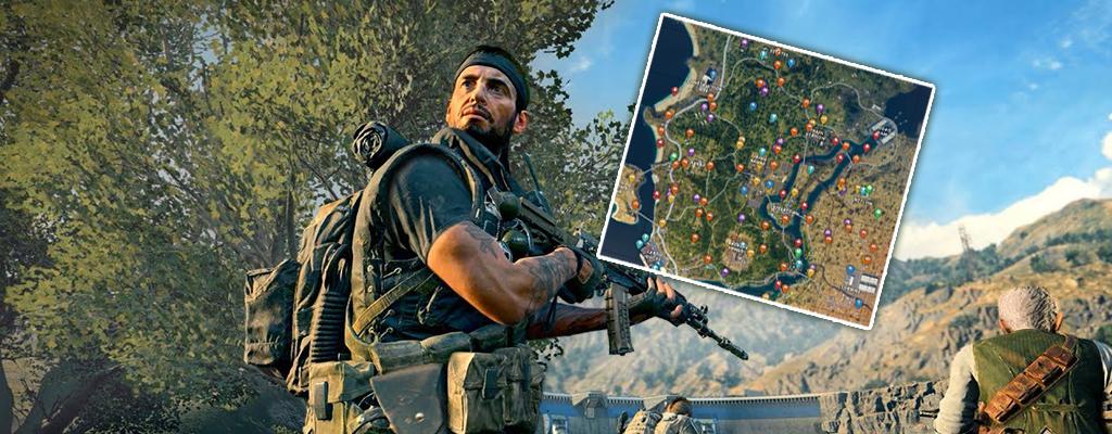 Black Ops 4: Blackout-Karte zeigt, wo es Loot und Fahrzeuge gibt