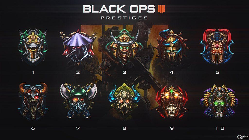 Blops 4 prestige empblems