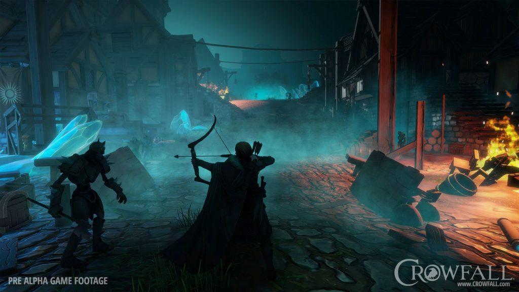 Crowfall Bogenschütze gegen Zombie