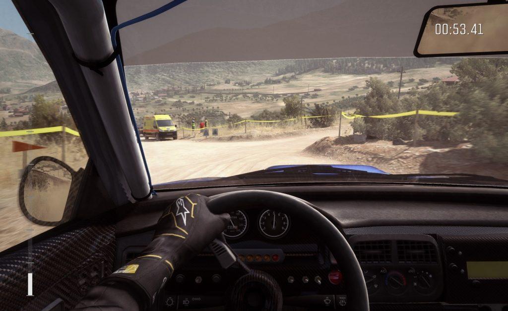 DIRT Rally staubige Strecke