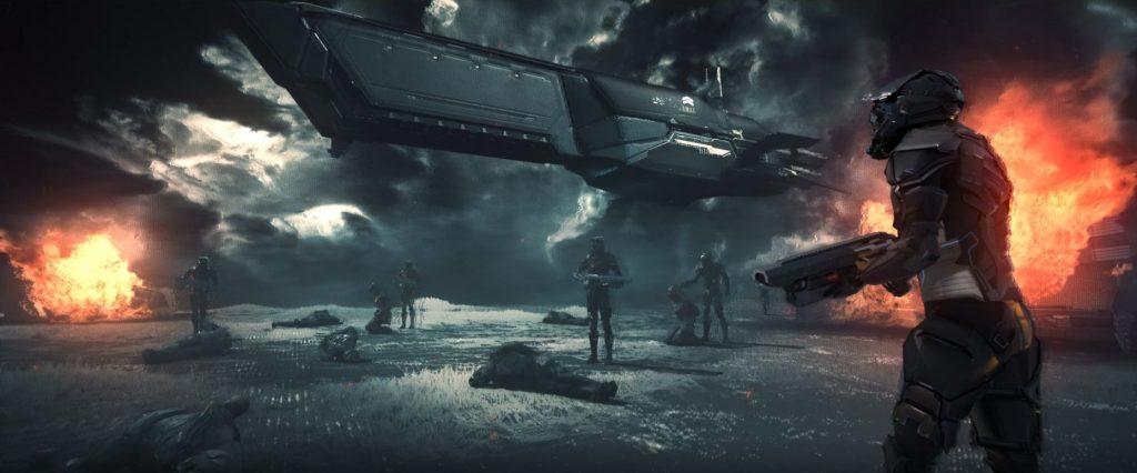 EVE Project Nova Trailer Schiff und Kämpfer