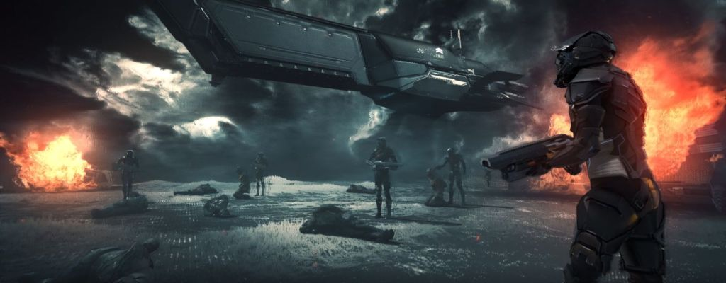 EVE Project Nova Trailer Schiff und Kämpfer Titel
