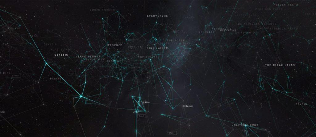 Eve online starmap ausschnitt