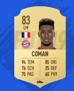FIFA 19 Bundesliga Coman