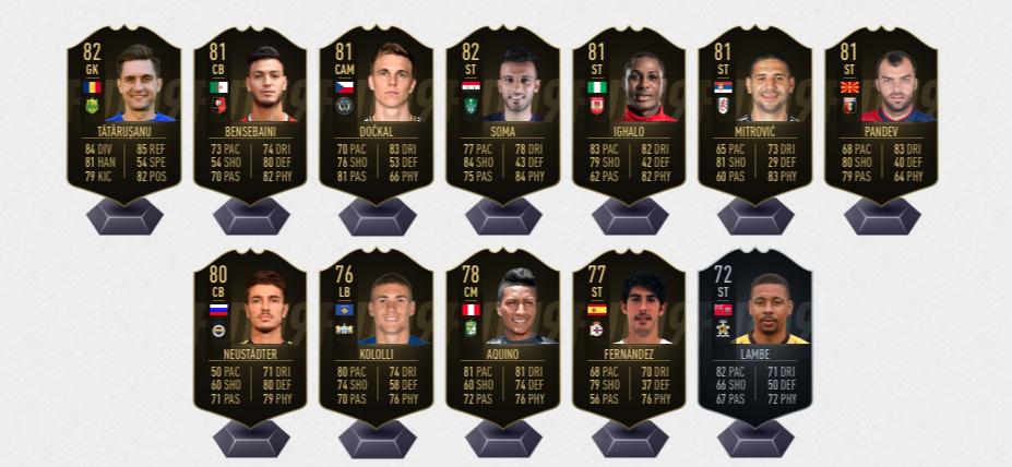 FIFA 19 TOTW 5 Auswechselspieler