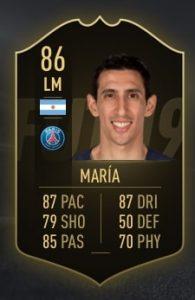 FIFA 19 TOTW 6 di Maria