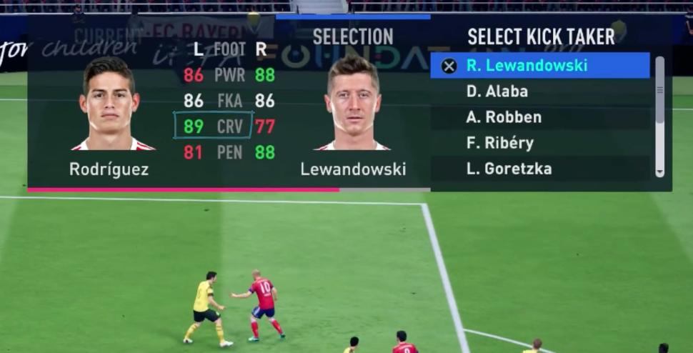 FIFA 19 direkte Ecke Spieler mit hohen Curve Werten