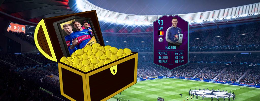 FIFA 19: Holt Euch per Hazard-SBC ein 50k Pack für etwa 25k Münzen