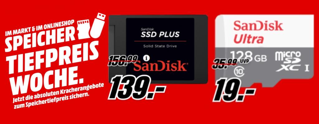 MediaMarkt hat diese SSD und Speicherkarte nur noch kurz im Angebot