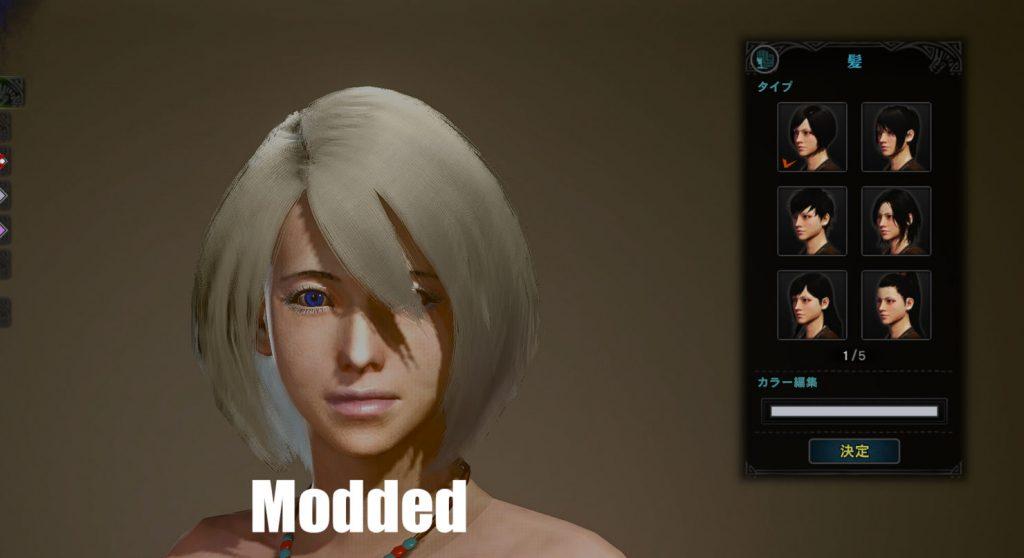 Monster-Hunter-World-NieR-Automata-Mod-frisur