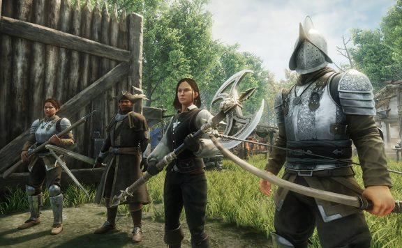 Charaktere in New World bereit zum Kampf