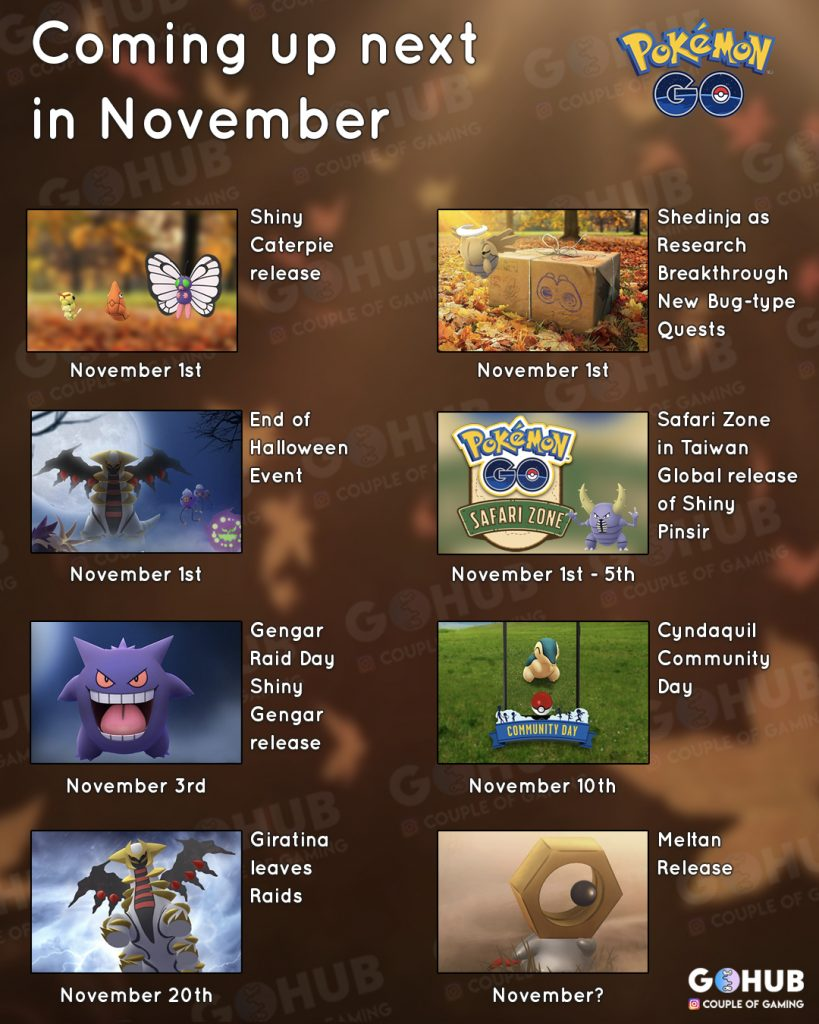 November Pokemon GO