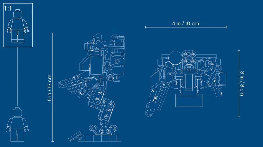 Overwatch Lego Omnic Blueprint