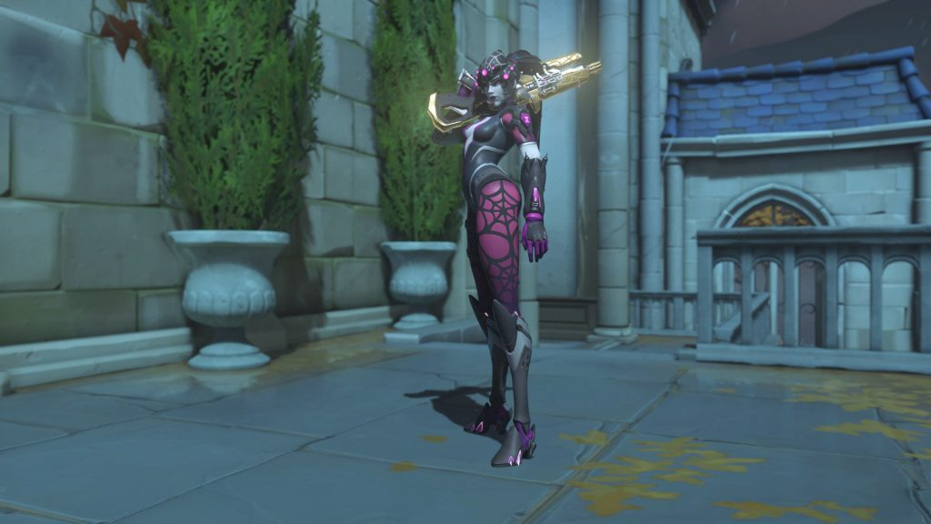 Overwatch Screenshot Halloween Horror 2018 Skin Widowmaker