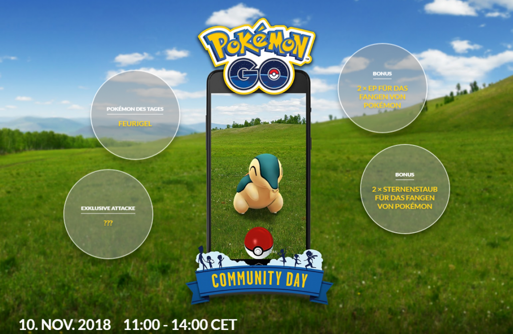 Pokémon GO Feurigel Community Day