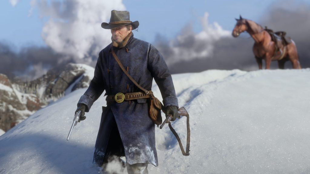 RDR 2 Outfit schnee Flinte