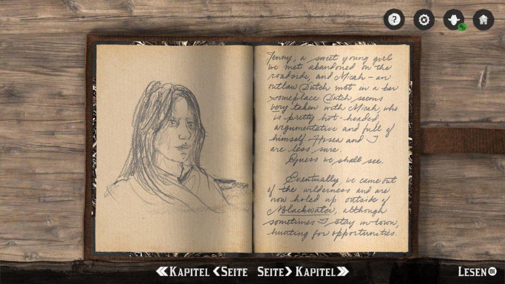 RDR 2 Tagebuch Companion