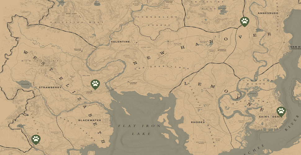 RDR 2 Trappers Map