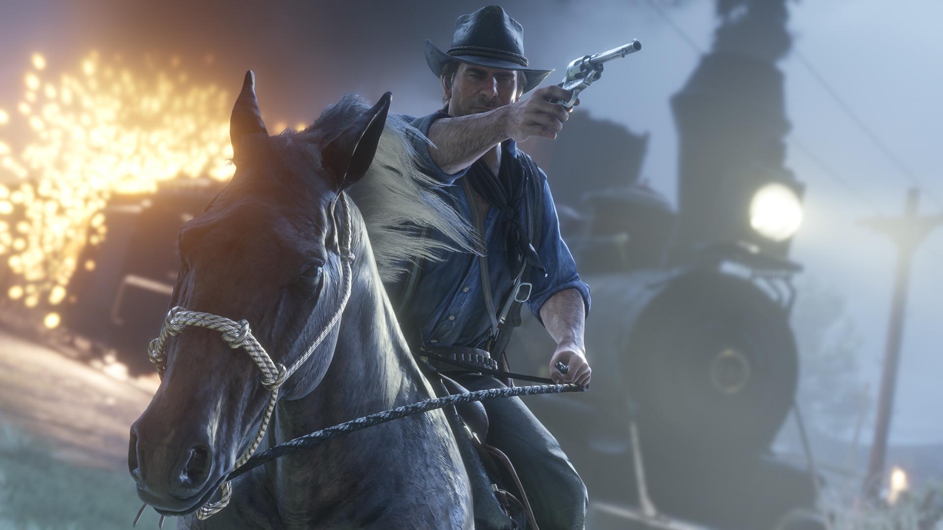 Red Dead Redemption 2 Arthur Pferd Zug