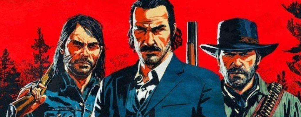 Red Dead Redemption 2 Red Background Guys title