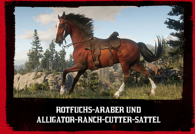 Red Dead Redemption 2 Rotfuchs-Araber