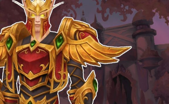 WoW Blood Elf Heritage Armor male title