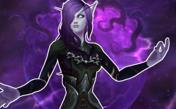 WoW Shadow Priest Void Elf casting title