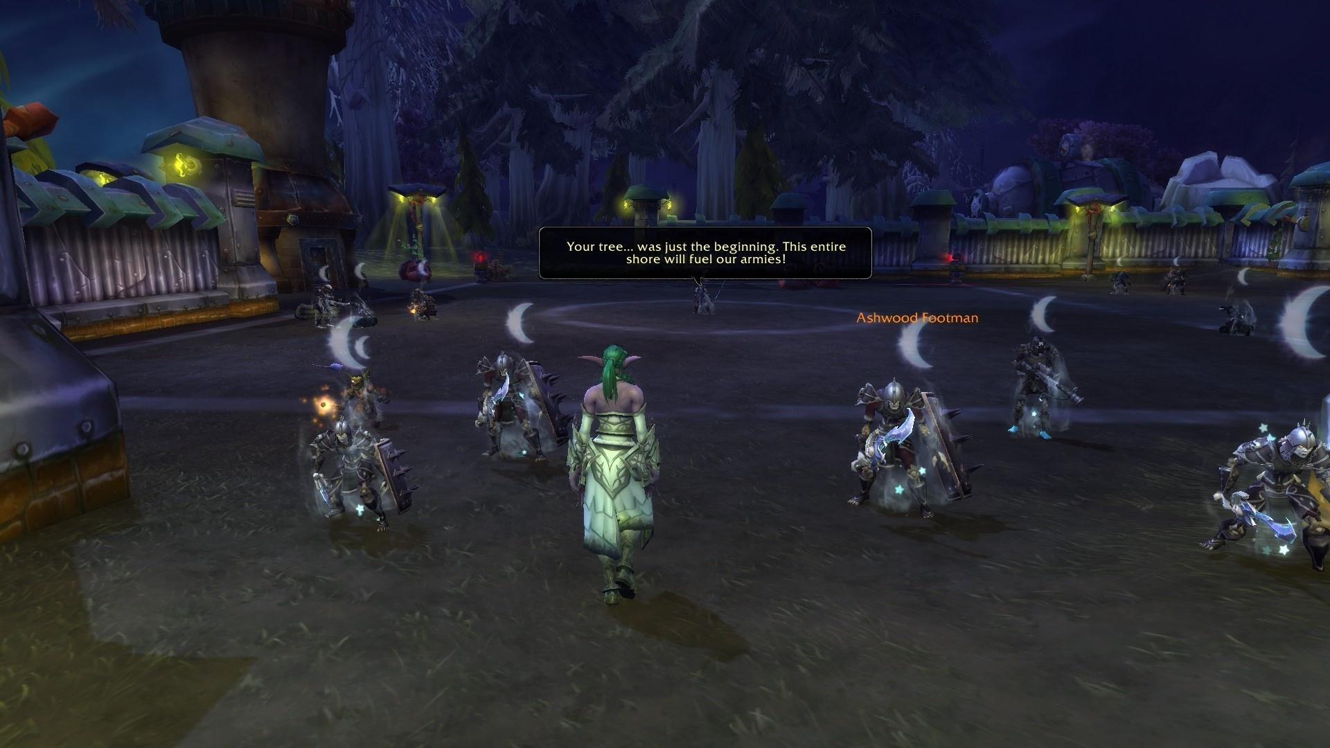 WoW Tyrande Night Warrior Quest Darkshore 2