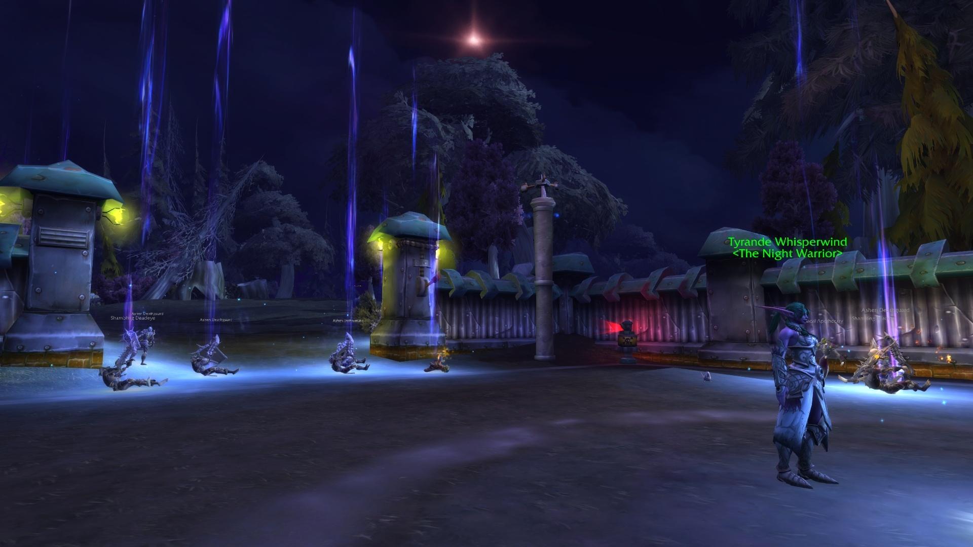 WoW Tyrande Night Warrior Quest Darkshore Undead Killing