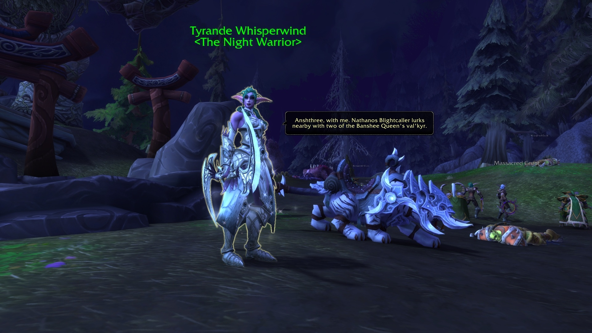 WoW Tyrande Night Warrior Quest Darkshore