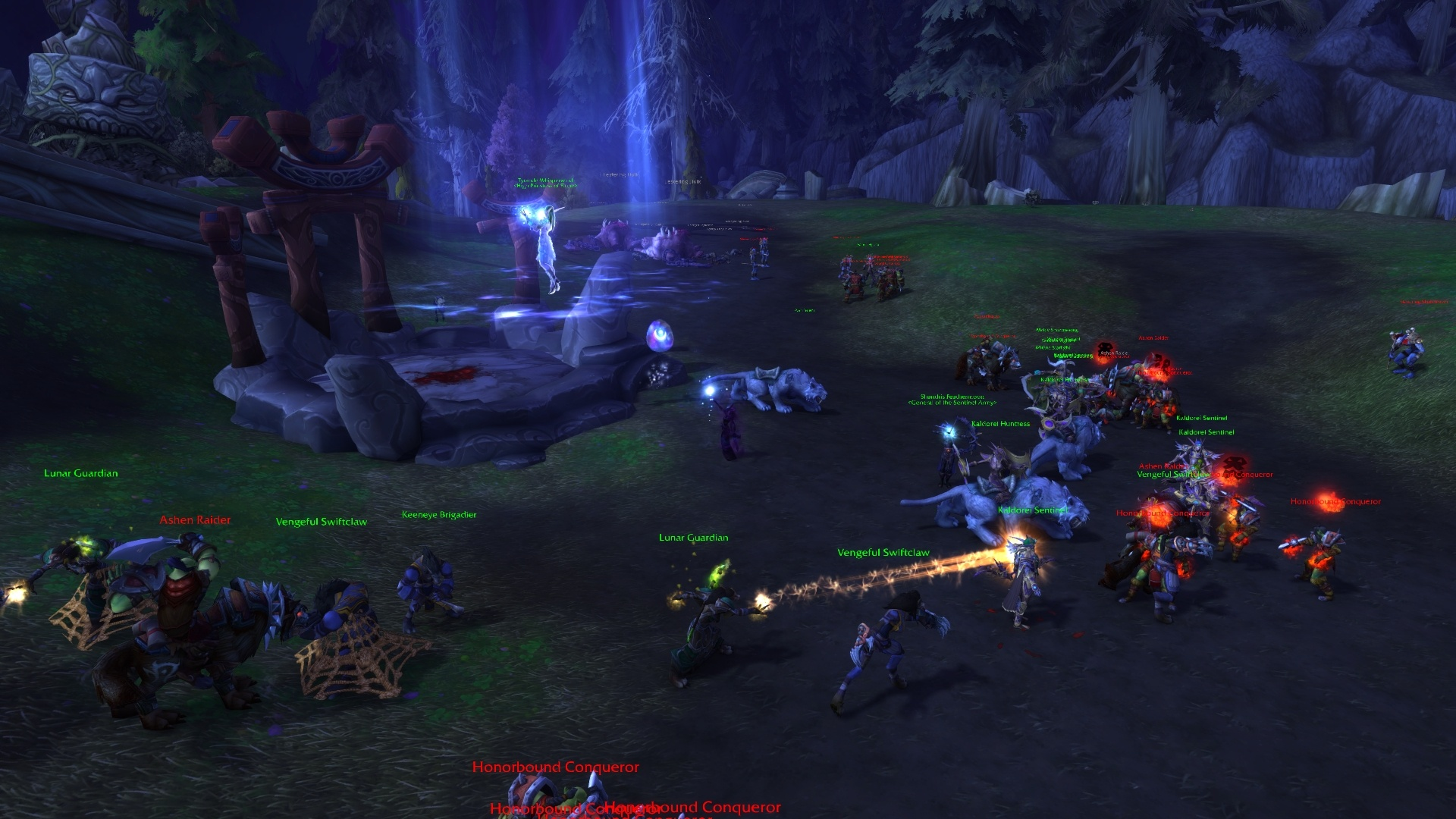 WoW Tyrande Night Warrior Ritual Horde Attack