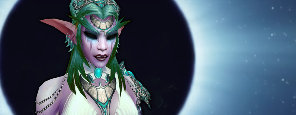 WoW Tyrande black eyes title elune