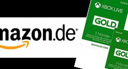 Xbox Live Gold Amazon & Monate zum Preis von 3