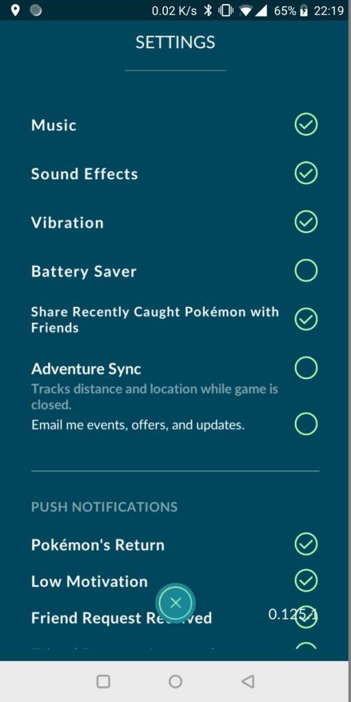 Pokémon GO Abenteuer Sync