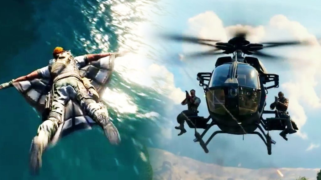 cod black ops helicopter wingsuit
