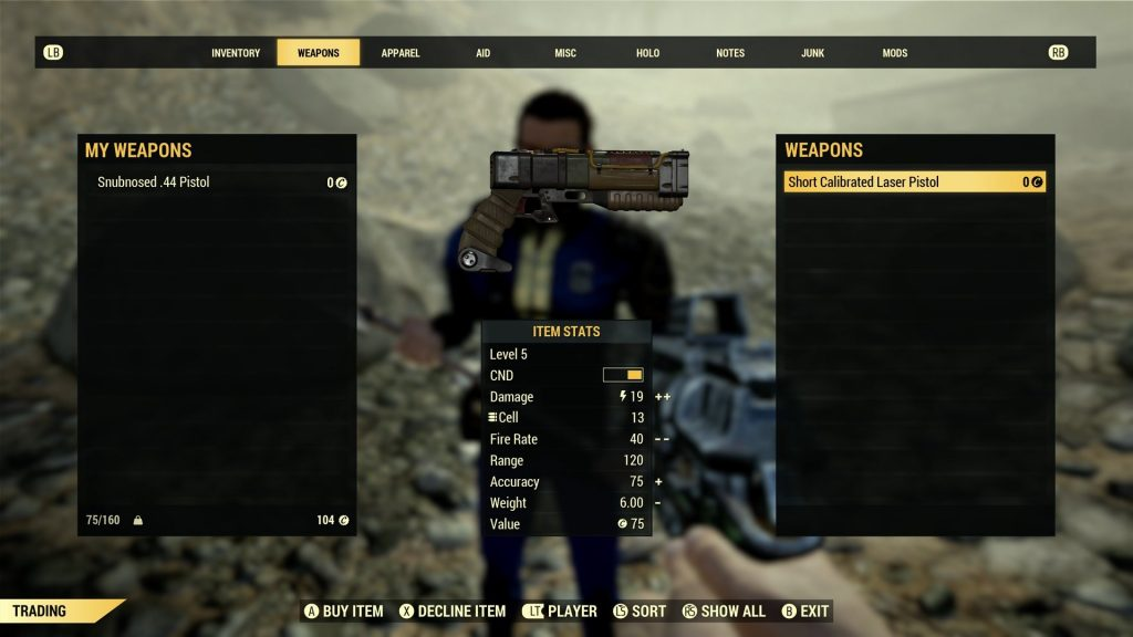 fallout 76 screenshot handel buttons