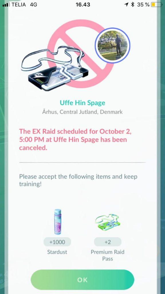 Pokémon GO Raid Cancel