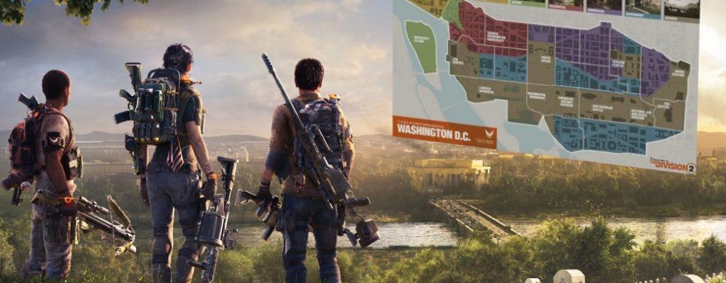 The Division 2 hat 6 Regionen – Hier ist die komplette Map
