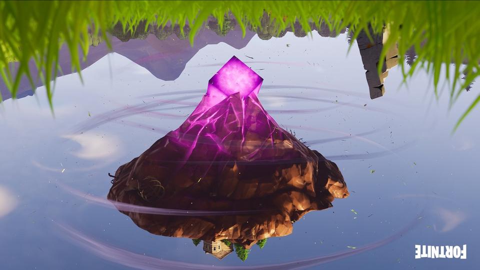 Fortnite fliegende Insel auf dem Kopf