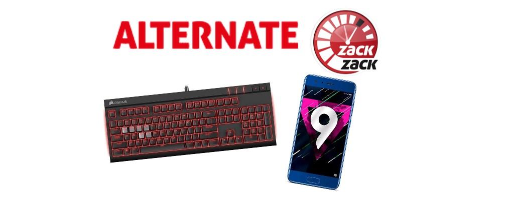 Alternate: Gaming-Tastaturen, Honor 9 und mehr reduziert