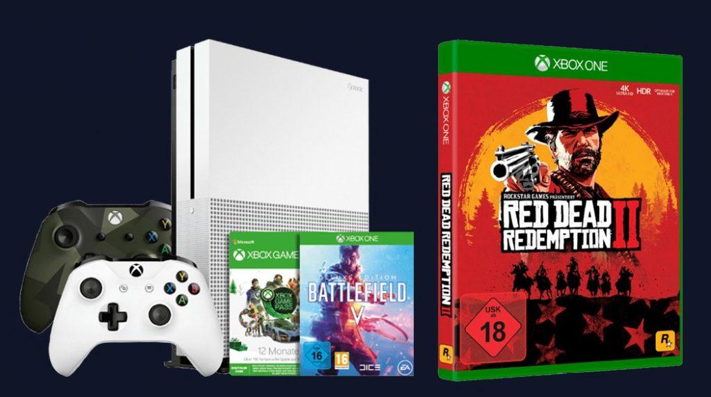 Xbox One S mit BFV und RDR 2 für 299 Euro.