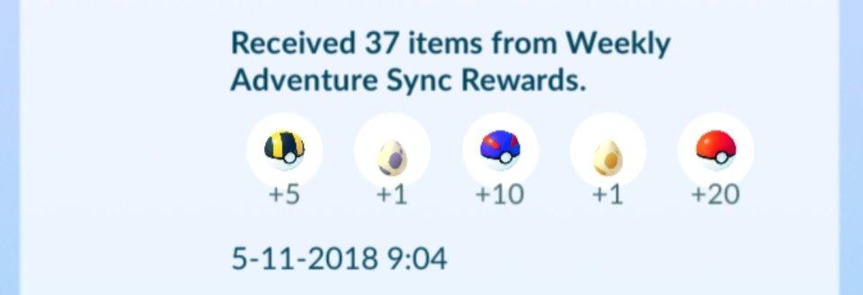 Abenteuer Sync Pokemon GO