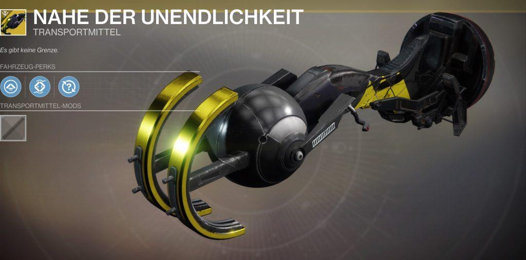 Destiny 2 unendlichkeit sparrow