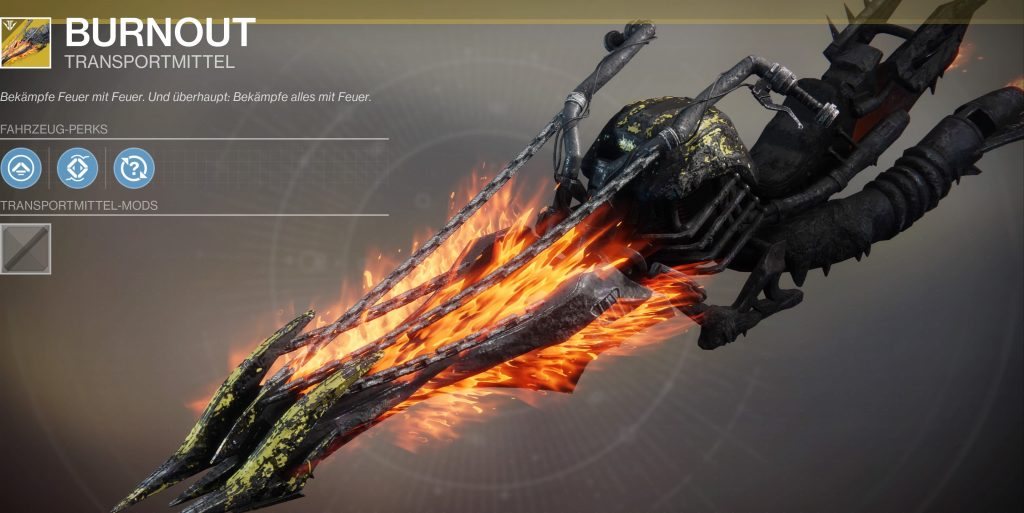 Destiny 2 burnout sparrow