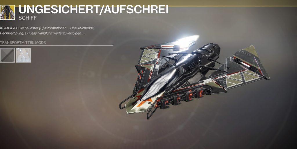 Destiny 2 aufschrei schiff