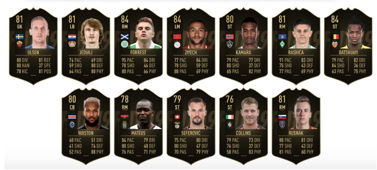 FIFA 19 TOTW 10 Bank