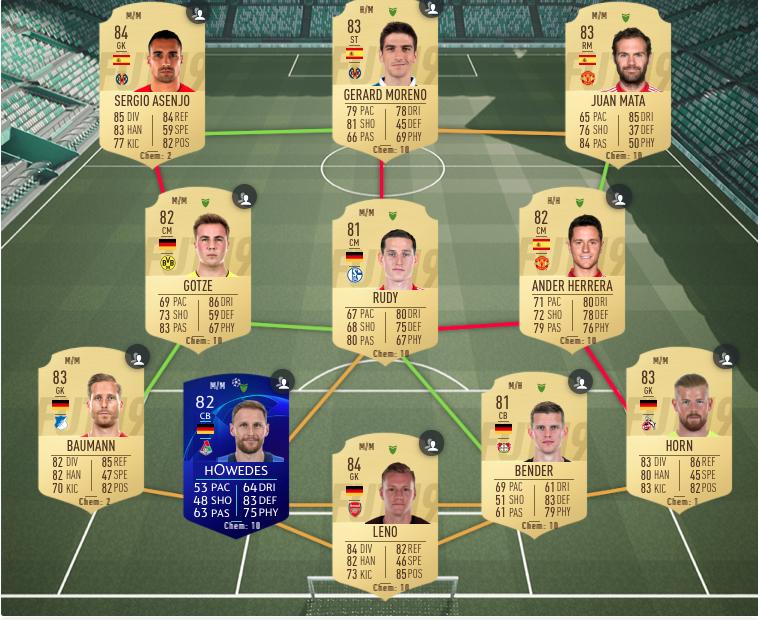 FIFA 19 Tah Deutschland SBC